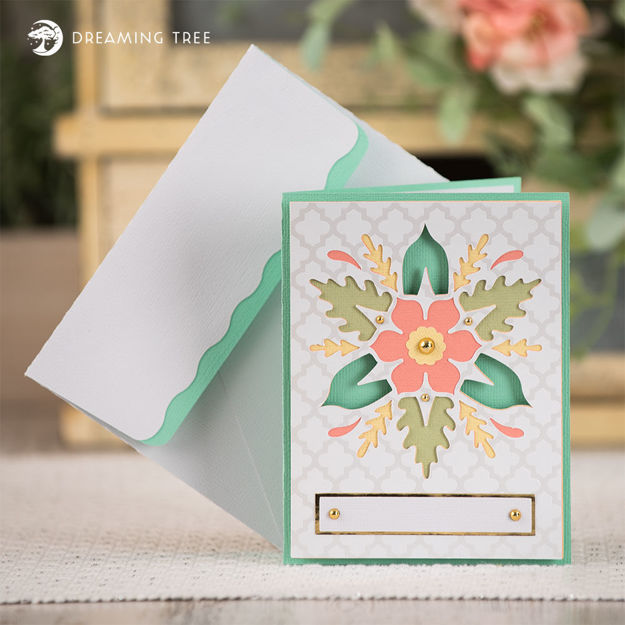 Picture of Floral Card SVG