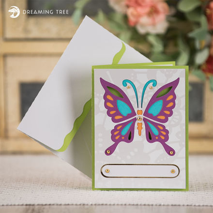 Picture of Butterfly Card SVG