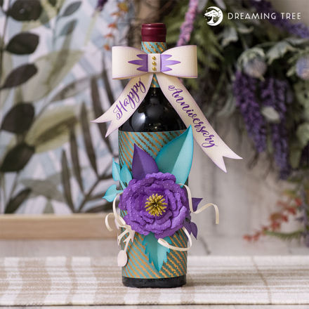 Picture of Anniversary Wine Bottle Wrapper