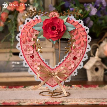 Valentine Heart Floral Wreath