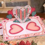 Valentine's Day Heart Pop Up Card