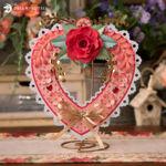 Floral Valentine's Day Heart Wreath
