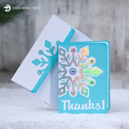 Free Thank You Card With Thanks Snowflake