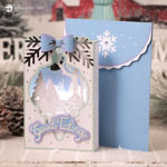 Picture of Good Tidings Paperscape Card SVG