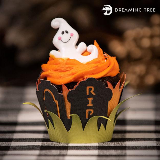 Graveyard Cupcake Wrapper (Free SVG)