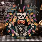 Halloween Skull Boo Wreath
