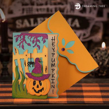 Hey, Pumpkin Jack-O-Lantern Halloween Card