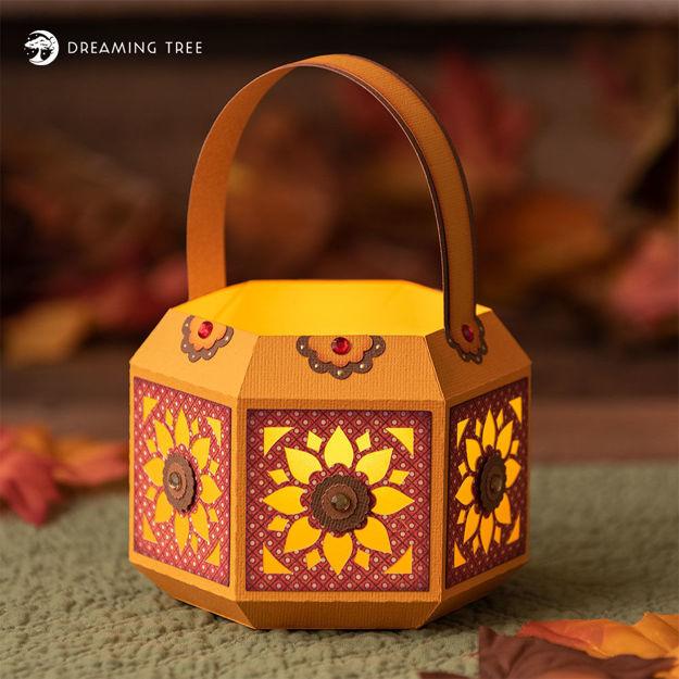 Picture of Sunflower Tea Light Lantern SVG