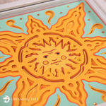 Sun Layered Paper Sculpture