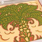 Date Palm Layered Paper Sculpture