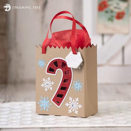 Candy Cane Bag (Free SVG)