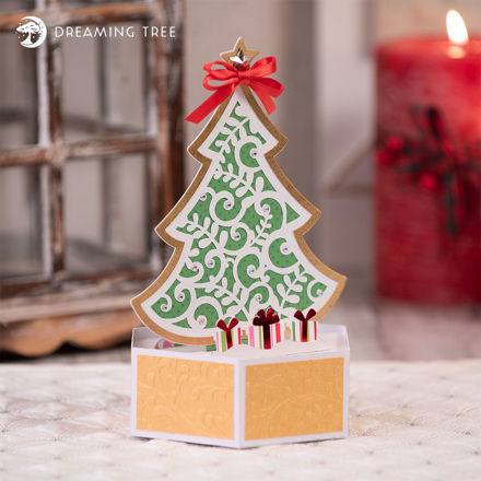 Picture of Christmas Tree Pop Up Card SVG