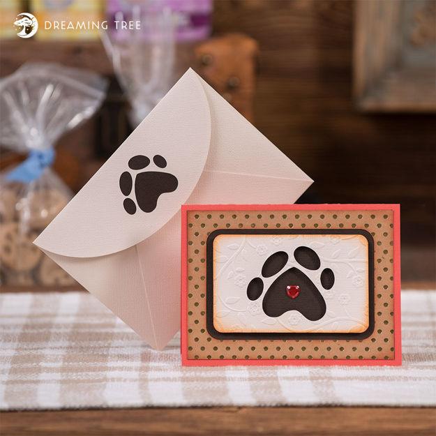 Pet Paw Card (Free SVG)