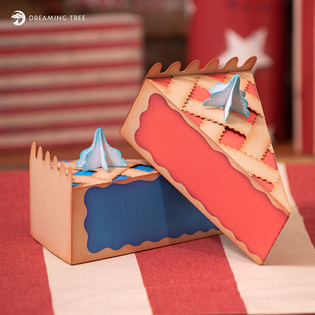 Picture of Cherry and Blueberry Pie Boxes SVG