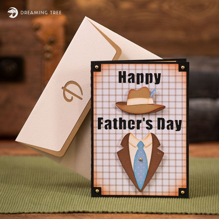 Father's Day Fedora Hat Card SVG