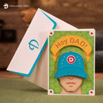 Hey Dad Father's Day Baseball Cap Card