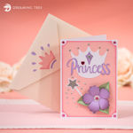Princess Pop Up Card SVG