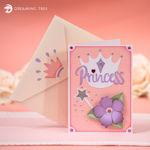 Princess Party Pop Up Crown Card