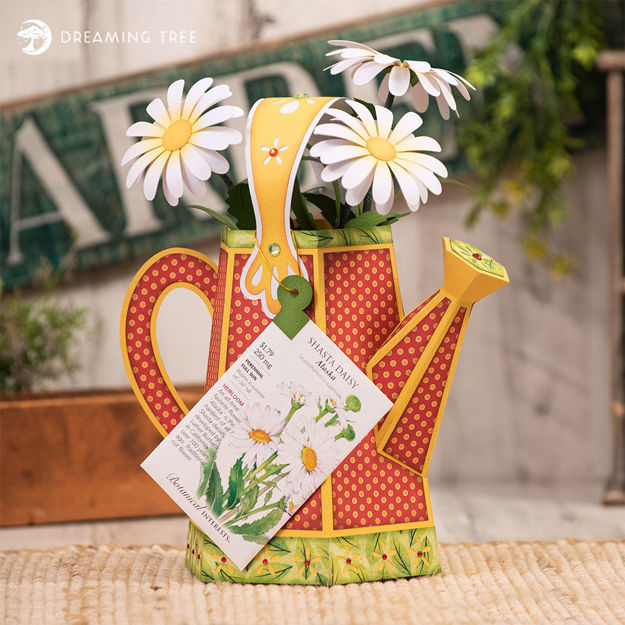 Watering Pail Daisy Planter
