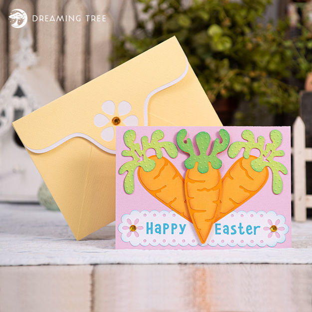 Carrot Happy Easter Card