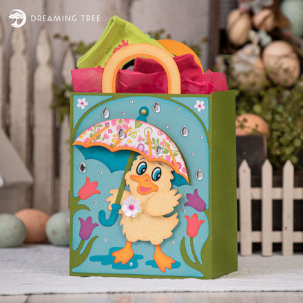 Easter Duck Gift Bag With Umbrella