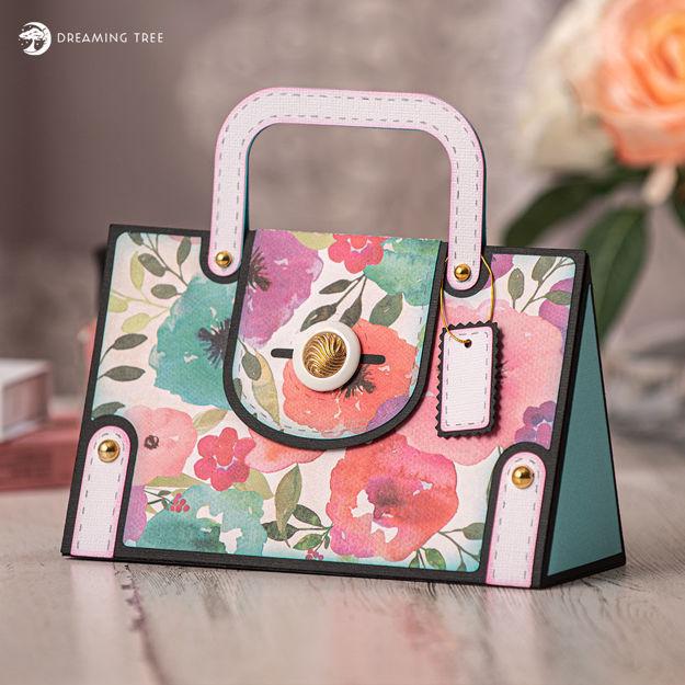 Picture of Fancy Floral Handbag SVG