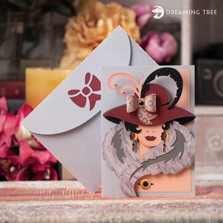 Juliet Lady Hat Greeting Card