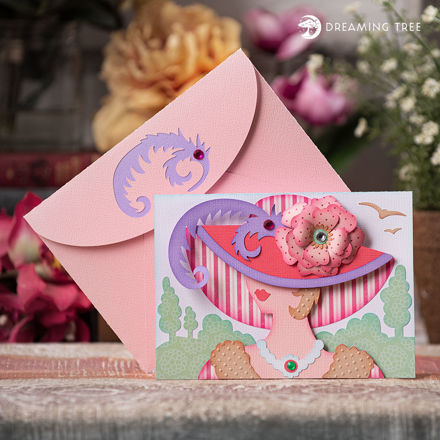 Rosey Lady Hat Greeting Card