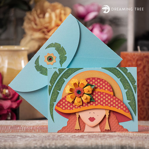 Lady Hat Greeting Card Sunny