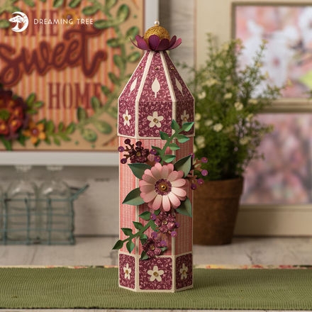 Floral Wine Canister Box