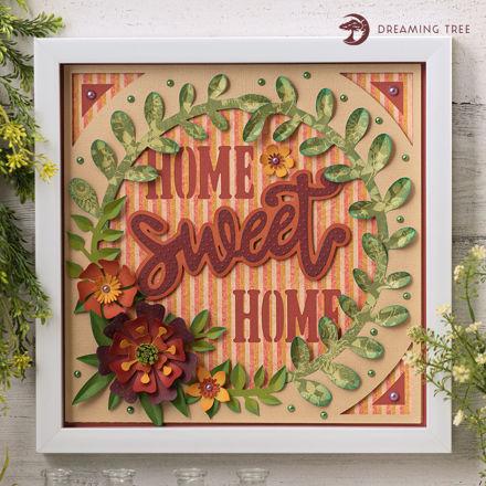 Sweet Home Paper Sculpture Wall Decor