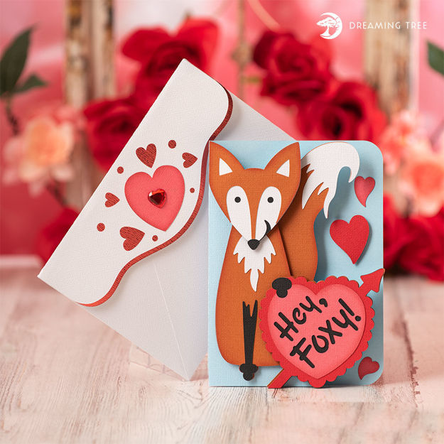 Foxy Valentine Card (Free SVG)