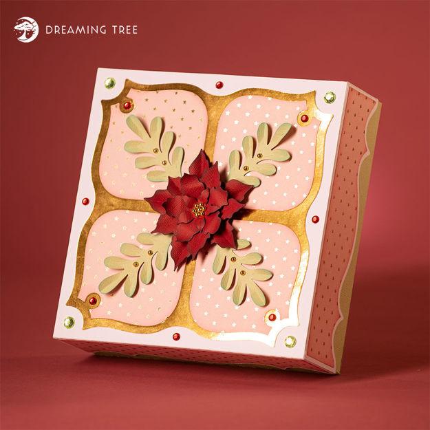 Poinsettia Gift Box SVG