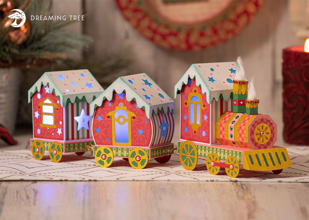 Choo-Choo Christmas Train Luminary