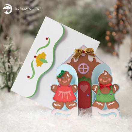 Christmas Gingerbread Greetings Card