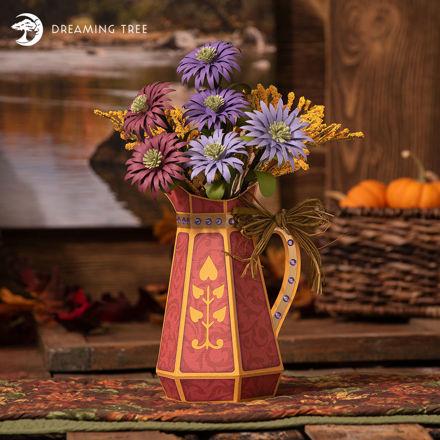 Autumn Asters Flowers Vase