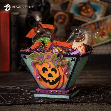 Halloween Jack-O-Lantern Treat Basket