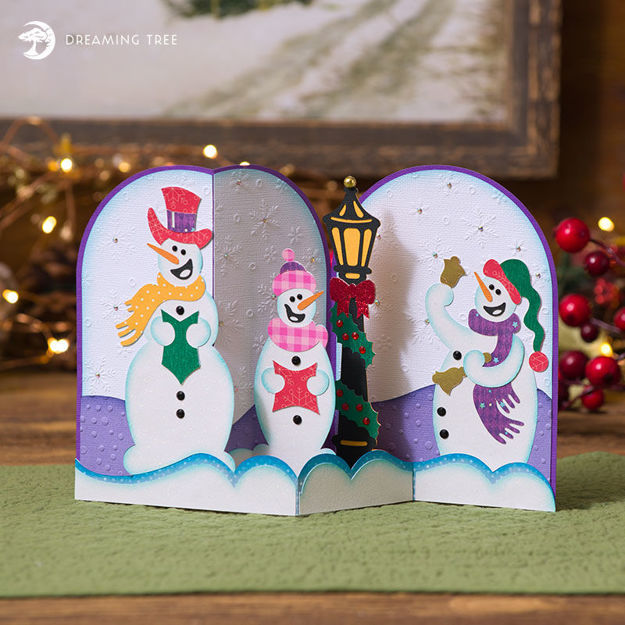 Picture of Snowmen Carolers Card SVG