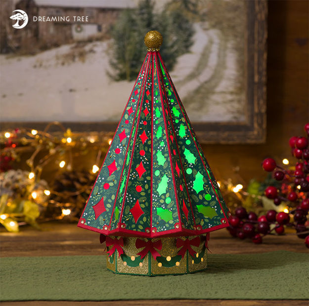 Christmas Tree Luminary SVG