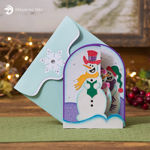 Snowmen Carolers Christmas Z Fold Card