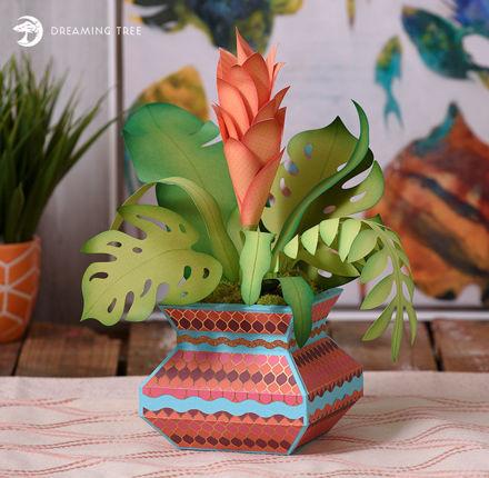 Hawaiian Tropical Floral Arrangement Centerpiece