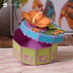 Hibiscus Gift Treat Box SVG