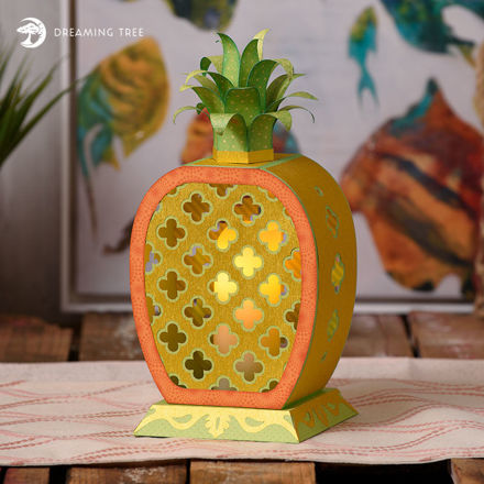 Picture of Golden Pineapple Lantern SVG