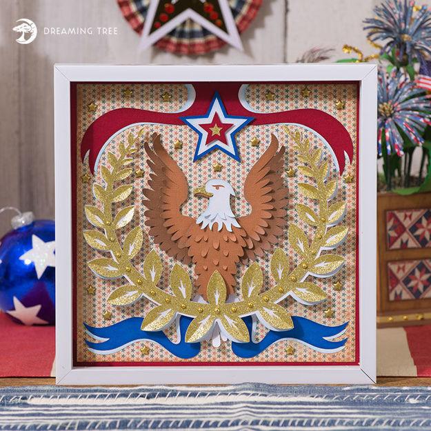 Picture of Patriotic Paper Sculpture SVG