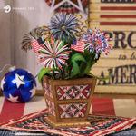Firework Patriotic Planter