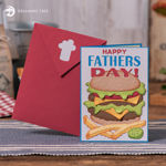Father's Day BBQ Cheeseburger And Fries Card