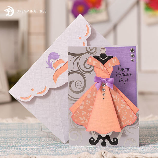 Picture of Darling Dress Greeting Card SVG