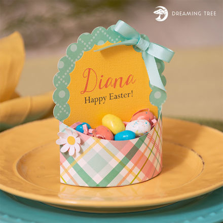 Easter Basket Place Card (Free SVG)