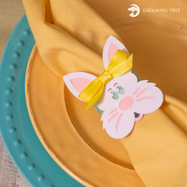 Easter Bunny Napkin Ring (Free SVG)
