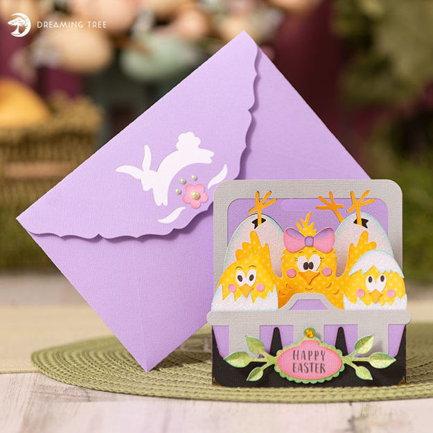 My Little Chickadees Happy Easter Box Card